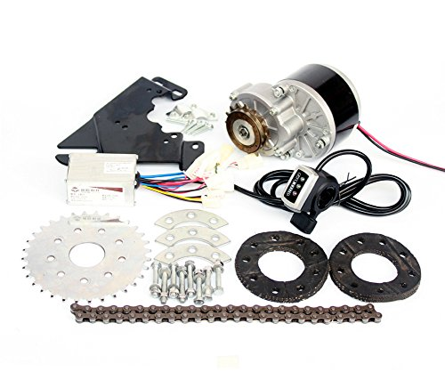 L-faster New Arrival 250W Electric Conversion Kit For Common Bike Left Chain Drive Customized For Electric Geared Bicycle Derailleur(¨Thumb Kit)