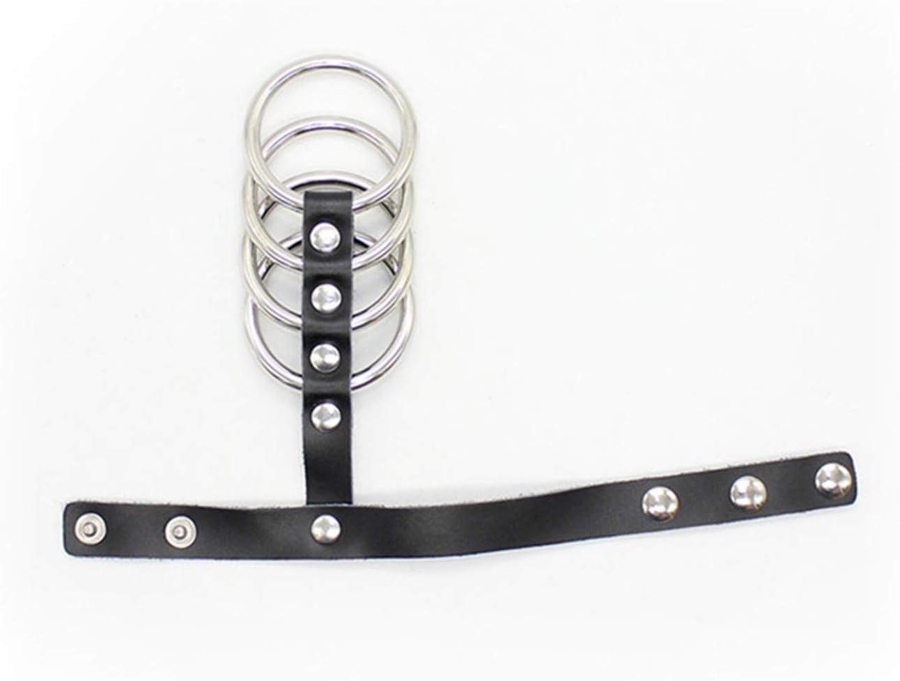 Stainless Steel P/énǐs R/ìngs Set Sleeves C/öckr/ìng Real Leather C/öck-R/ìng S/&M S/éx-Tǒy for Couple Ād/ùlt Men Male Chastity Belts