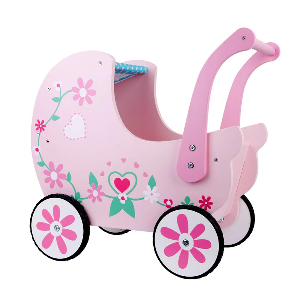 BABYSTCWJ Push Along Toy Wooden,Wagon for Kid with Wheel, Toddler Push Toy, Baby Activity Walker, Child First Step Walking Cart, Children Pull & Push Cart