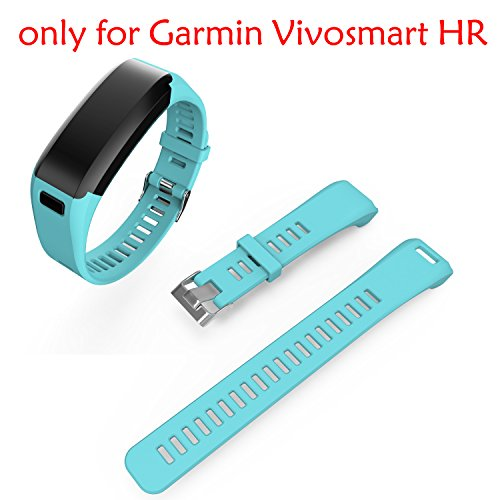 Band for Garmin Vivosmart HR, Garmin Vivosmart HR Replacement Soft Silicone Bracelet Sport Strap WristBand Accessory by ULT-unite (Teal) (Silicone Sport Bracelet)