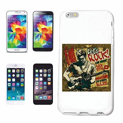 """cas de téléphone iPhone 7S """"Let`s ROCK EN DIRECT MUSIC ROCK STAR TECHNO JAZZ FUNKY SOUL TRANCE FESTIVAL HOUSE HIPHOP HIP HOP DJ"""" Hard Case Cover Téléphone Covers Smart Cover pour Apple iPhone en blanc"""