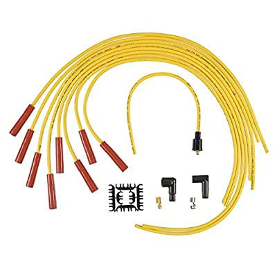 ACCEL 4040 SuperStock 8mm 4000 Series Yellow Graphite Spark Plug Wire Set: Automotive