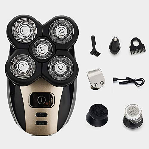 5-in-1 Men's Electric Shaver and Trimmer Grooming Kit, Rechargeable Waterproof Electric Razor Kit