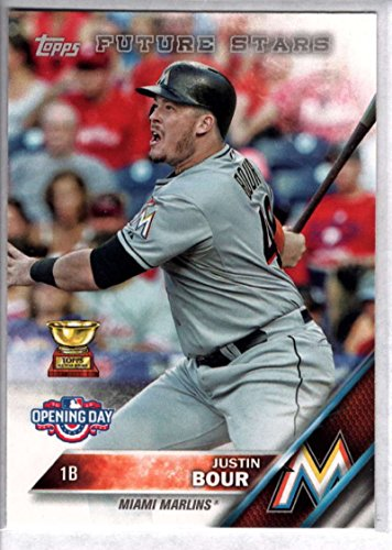 Baseball MLB 2016 Topps Opening Day #181 Justin Bour NM-MT Marlins