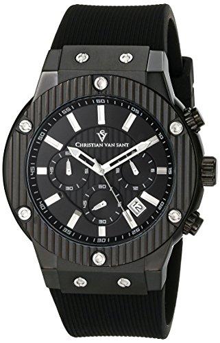 Christian Van Sant Men's CV8120 Monarchy Analog Display Quartz Black Watch