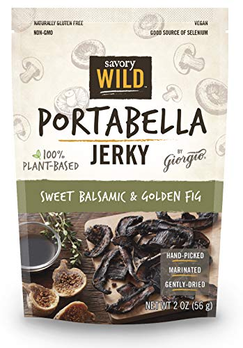 - Sweet Balsamic & Golden Fig Portabella Jerky
