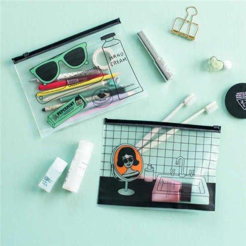 VIPASNAM-2317 cm Cool Korean Fashion PVC Document Bag File Folder Stationery Organizer