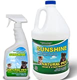 Pet Odor Eliminator and Pet Stain Remover - Sunshine Natural pet odor eliminator & cleaner (1 Quart Spray Bottle and 1 Gallon Bottle)