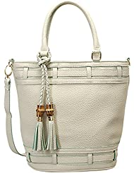 Mellow World Fashion Michelle Tote, White, One Size