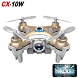 Cheerson CX-10W Real Time Wifi FPV Android / iOS Mini Quadcopter RC 4CH 2.4GHz 6 Axis Nano Drone HD Video Camera (Golden)