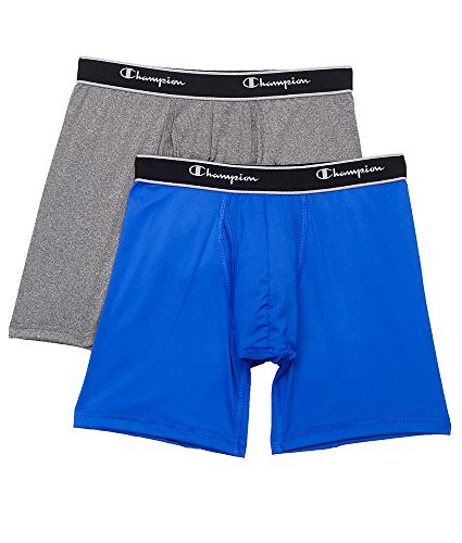 Champion Tech Performance Boxer Brief 2-Pack, XL, Surf / Stealth
