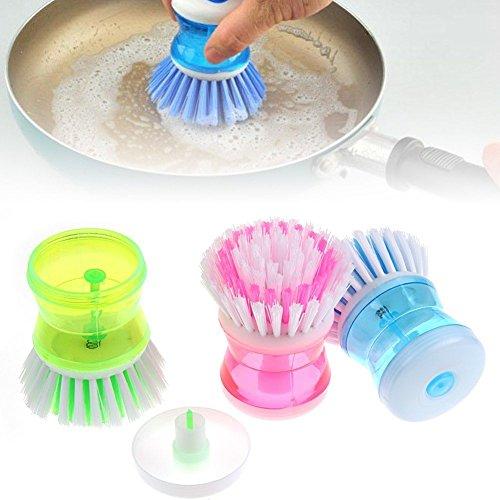 MAZIMARK--Kitchen Wash Washing Tool Pot Pan Dish Bowl Palm Brush Scrubber Cleaning - Outlet Center Springs Palm