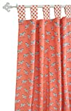 New Arrivals Curtain Panels, Zebra Parade in Coral