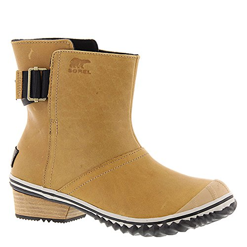 on curry Pull SOREL Slimboot Women's Boots On Black tTHwHf