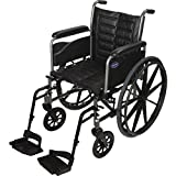 "Invacare LightWeight Tracer EX2 Wheelchair 20"" with SwingawayFootrest- Black (Folding, Assembled)"