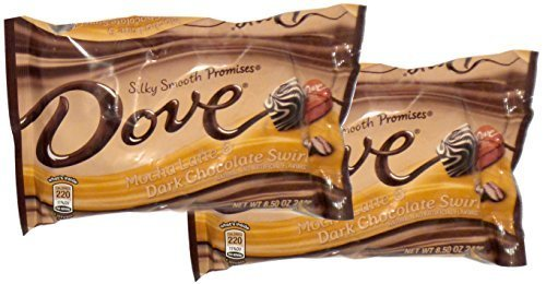ark Chocolate Swirl Promises, 8.5 oz. Packages, 2 Pack by Dove (Mocha Dark Chocolate Swirl)