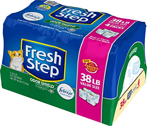 Fresh Step Odor Shield with Febreze Freshness, Clumping Cat Litter, Scented, 34 Pounds