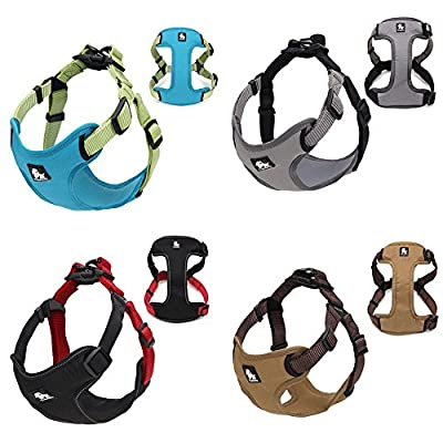S-power 3M Reflective No Pull Dog Nylon Vest Harness for Dogs