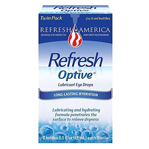 Refresh Optive, Lubricant Eye Drops, 2 Bottles 0.5 fl oz (Refresh Contacts)