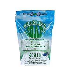 Charlie's Soap - Fragrance Free Laundry Packets - 30 Count (One 30-count Bag, 30 Total Loads)