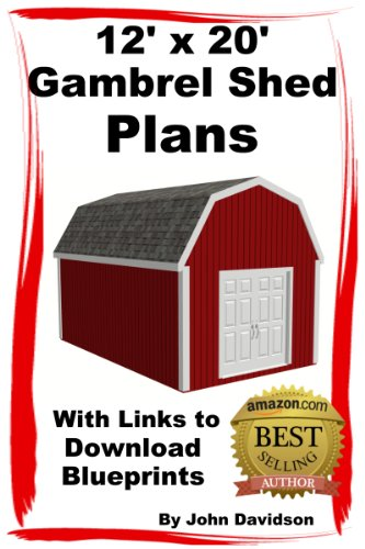 Amazon Com 12 X 20 Gambrel Shed Plans Construction Blueprints