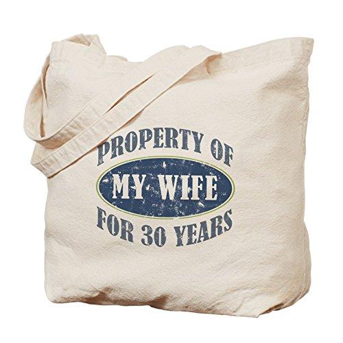 CafePress 30th aniversario–Gamuza de bolsa de lona bolsa, bolsa de la compra, diseño