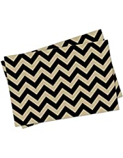 "Kraft Paper Placemats - 24 Count - Black Chevron Design - 11"" by 17"" - Great for Crafts, Holidays, Birthdays, and Special Occasions - by Note Card Café"