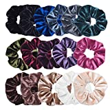VEMAI 16 Pack Hair Scrunchies Velvet Scrunchy Elastics Bobble Hair Bands Ties Scrunchies