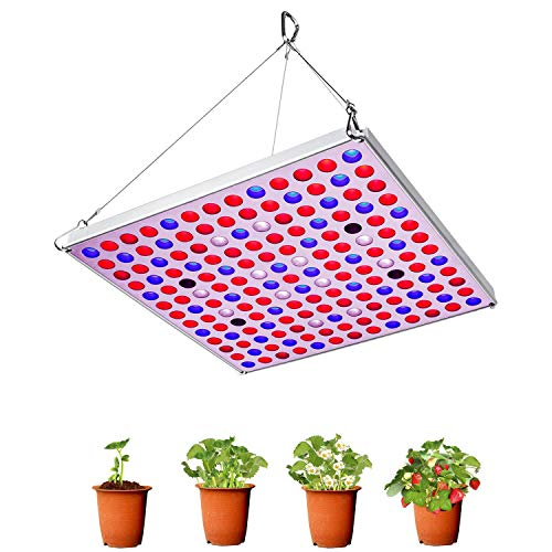 Grow Lights for Indoor Plants 75W Led Plant Lamp with Red Blue White IR Bulbs Plant Grow Light for Hydroponic Greenhouse Seedling Vegetables Flowers with Hanger Hook