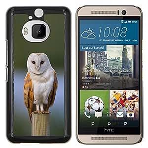 Dragon Case - FOR HTC One M9+ / M9 PLUS - owl winter snow perched feathers white - Caja protectora de pl??stico duro de la cubierta Dise?¡Ào Slim Fit