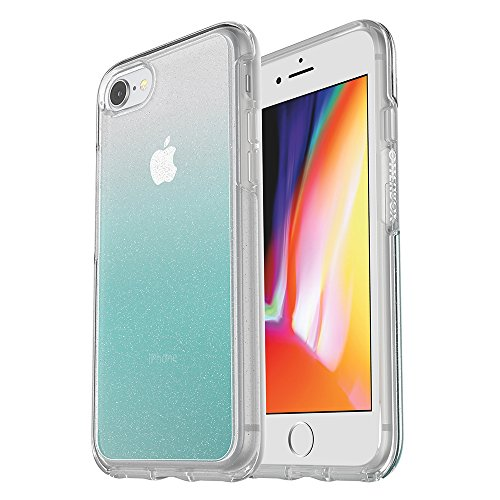 OtterBox SYMMETRY CLEAR SERIES Case for iPhone 8 & iPhone 7 (NOT Plus) - Retail Packaging - ALOHA OMBRE (SILVER FLAKE/CLEAR/ALOHA OMBRE) ()