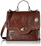 American West Hidalgo Top-Handle Convertible Flap Bag, Chestnut Brown