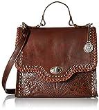 American West Hidalgo Top-Handle Convertible Flap Bag, Chestnut Brown