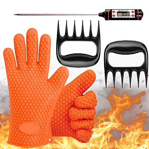 MightyGlovez BBQ Gloves Resistant Thermometer BBQ Accessories