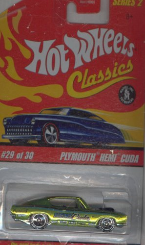 Plymouth Hemi Cuda Body - Hot Wheels Classics Series 2 2005 29 of 30 GREEN PLYMOUTH HEMI CUDA 1:64 Scale Die Cast Body & Chassis Special Paint