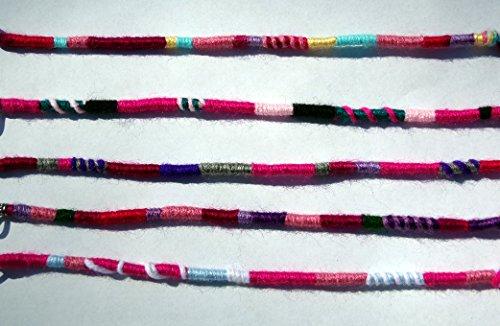olor Scheme, Qty: 1 Dreadlocks Accessory, Dread Wrap, Hair Fall, Hair Wrap, Colorful Accessories for Dreads, Braids, Curls ()