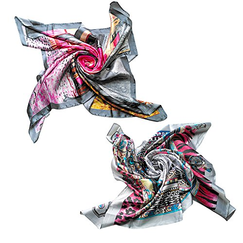 2-pcs-womens-large-satin-square-silk-feeling-hair-scarf-35-x-35-inches