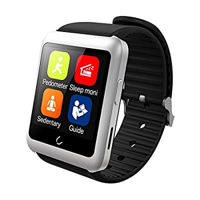 Smart Watch, YAMAY Universal Bluetooth Smartwatch Phone with Sim Card Slot Unlocked Fitness Tracker Pedometer Texting for iPhone Android Samsung LG Phones for Running Sport Outdoor Women Men Girls