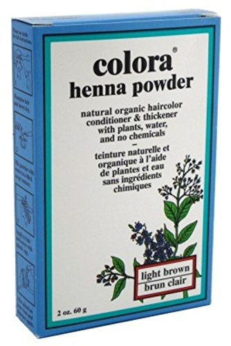 Colora Henna Powder Hair Color Light Brown 2oz (3 Pack) by Colora Henna