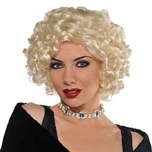 Roaring '20s Costume Party Roxie Wig, Blonde, Synthetic Fiber, 1-Piece
