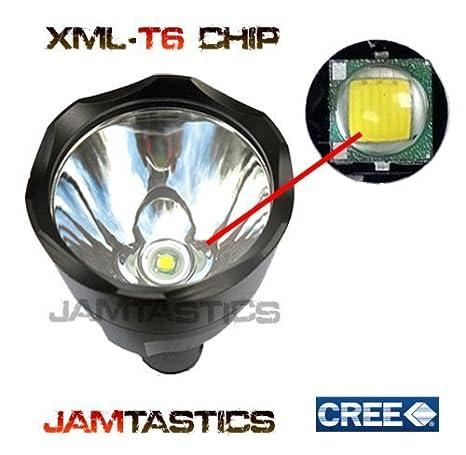 Forrader Kit pour lampe torche /à lunette CREE XM-L pour la chasse T6 One Mode noir