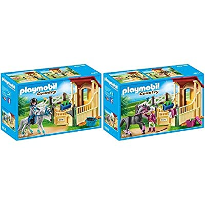 Playmobil 6935 - Pferdebox Appaloosa & 6934 - Pferdebox Araber: Toys & Games