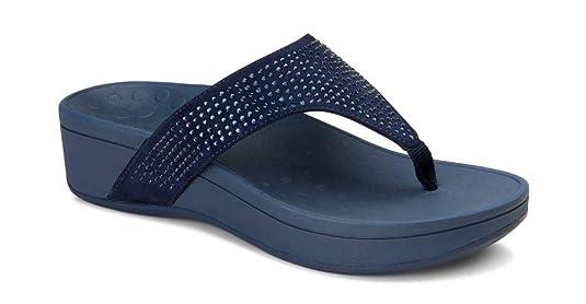 c10d25b284c Amazon.com  Vionic Women s Naples Platform Sandal - Toe Post Sandals with  Concealed Arch Support  Shoes