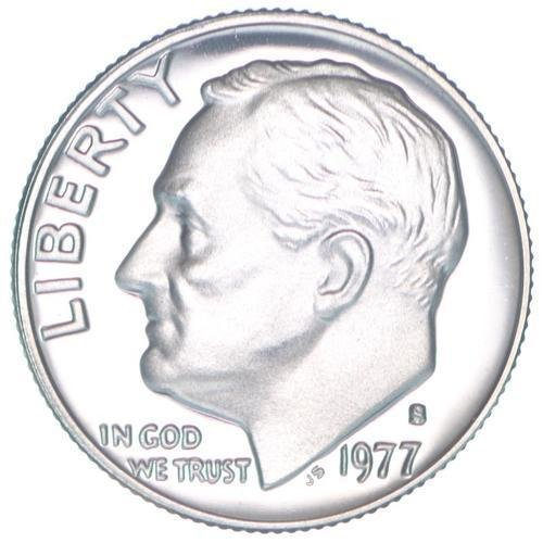 1977 S Proof Clad Roosevelt Dime PF1