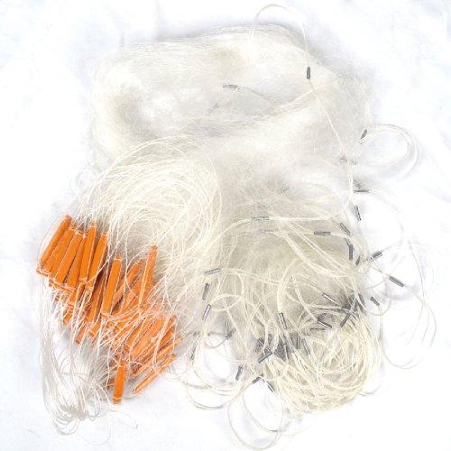 4cmx4cm Mesh Hole Fishing Fish Gill Monofilament Net 60M x 1.5M