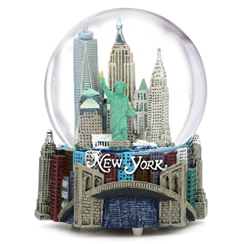 Brooklyn Bridge Snow - Musical New York City Snow Globe, 100mm New York City Snow Globes, 5.5 Inches Tall, PLAYS