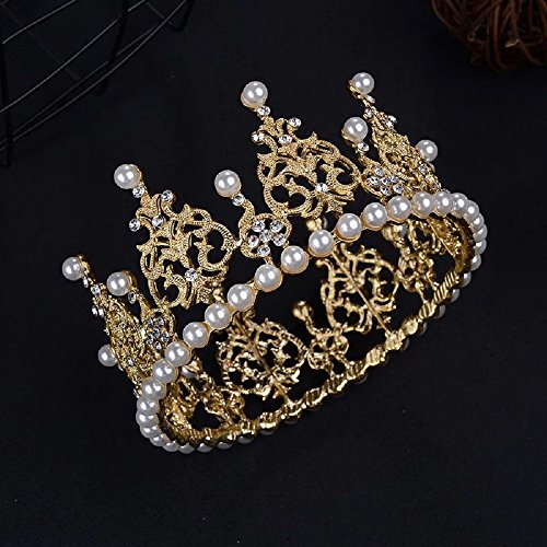 - Crown Cake Topper Decoration-Vintage Style Royal Centerpiece for Birthdays,Quinceaneras, Weddings, Bridal/Baby Showers, Prince/Princess, Gold and Silver Decorations