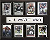 NFL Houston Texans J.J. Watt 8-Card Plaque, 12 x 15-Inch