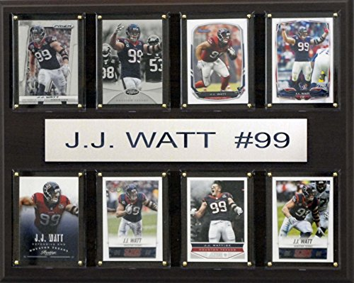 NFL Houston Texans J.J. Watt 8-Card Plaque,