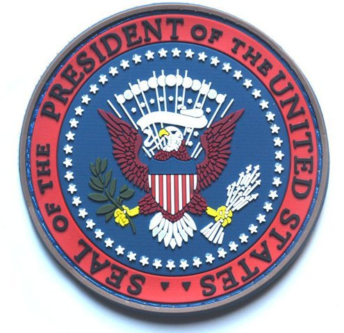 Executive Office Of The President Of The United States Pvc Rubber Velcro Patch